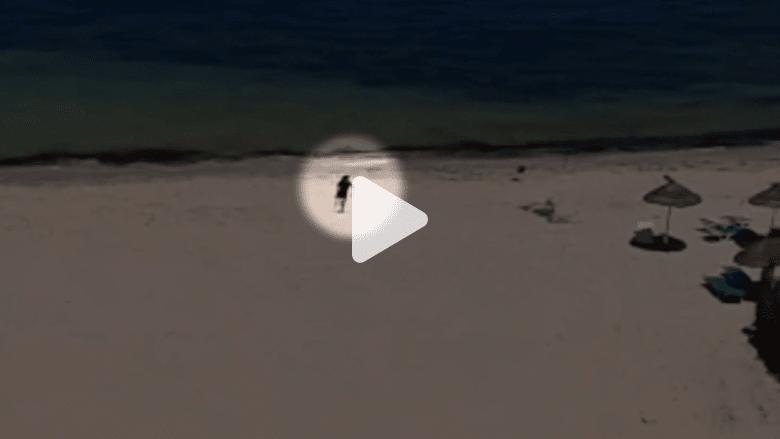 """شاهد.. فيديو يظهر منفّذ """"هجوم تونس"""" على شاطيء البحر"""