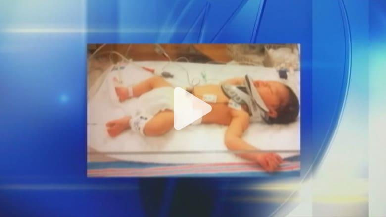عائلة أمريكية تعيش محنة بسبب انزلاق طفلها من بين يدي الممرضة بعد ولادته