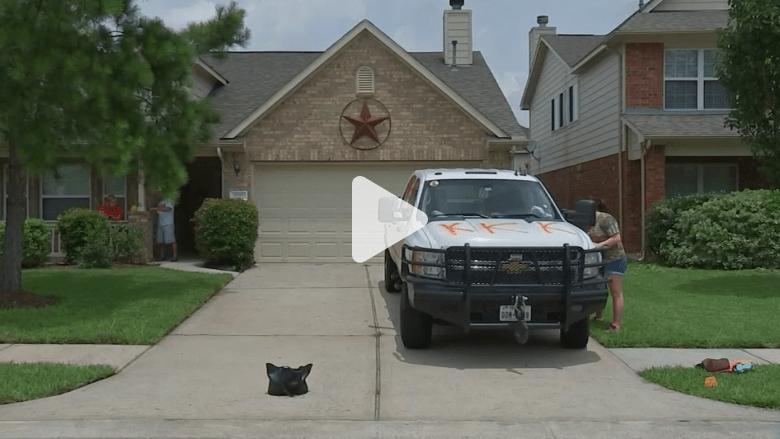 عبارات ورسومات عنصرية مهينة على شاحنة عائلة أمريكية في تكساس