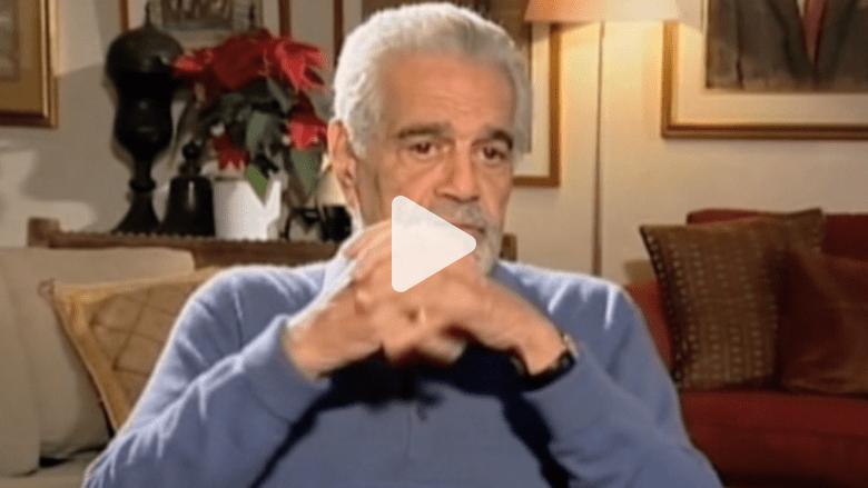 في مقابلة سابقة مع CNN عمر الشريف يتحدث عن أسباب تراجع انتاج السينما بمصر