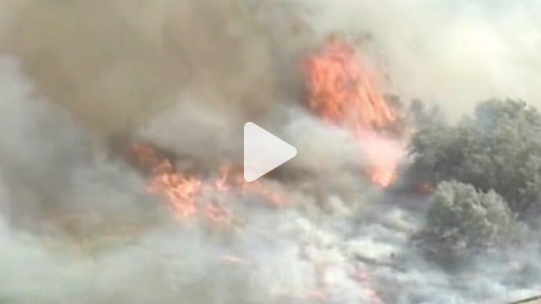 بالفيديو.. حرائق الغابات تلتهم مساحات شاسعة في ولاية واشنطن