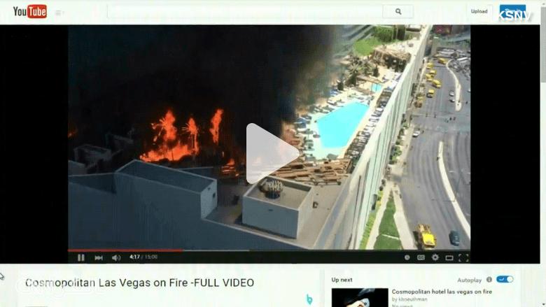 """شاهد.. حريق كبير في فندق بـ""""لاس فيغاس"""""""