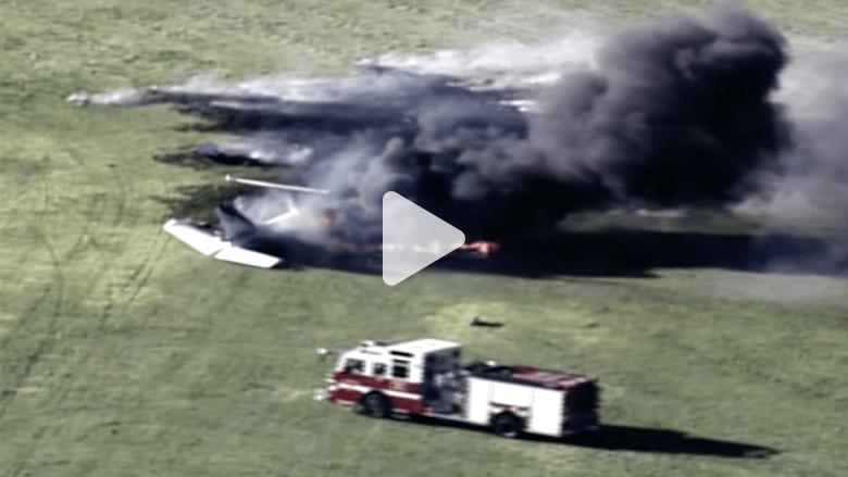 بالفيديو.. اللحظات الأولى لتحطم طائرة في ولاية ويسكونسن