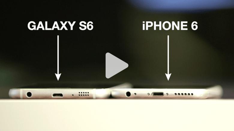 شاهد بالفيديو.. تشابه كبير بين هاتفي غالاكسي إس 6 وآيفون 6