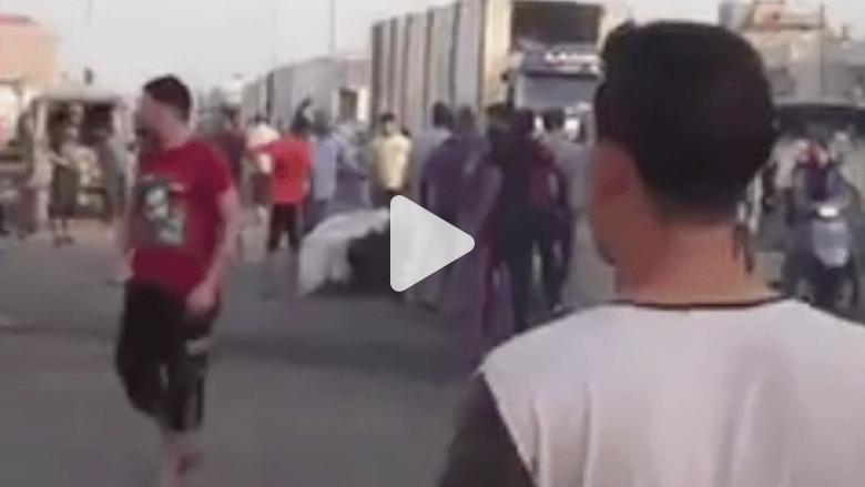 بالفيديو.. عشرات القتلى والجرحى في انفجار شاحنة وسط سوق في العراق