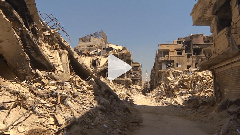 شاهد.. جولة لـ CNN وسط أنقاض مخيم اليرموك