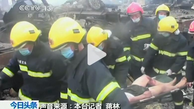 انفجارات ونيران جديدة في تيانجين بالصين وأعمدة الدخان تتصاعد في السماء