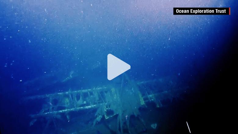 """بالفيديو.. شاهد بقايا حاملة طائرات """"جوية"""" بعد 80 عاماً على تحطمها"""
