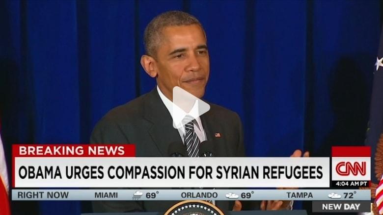 أوباما يرفض محاصرة المسلمين ويتعهد بتدمير داعش.. ويفتح الباب لبوتين