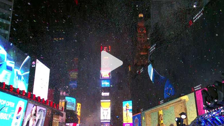 شاهد… احتفالات نيويورك بحلول 2016 وسط إجراءات أمنية مشددة