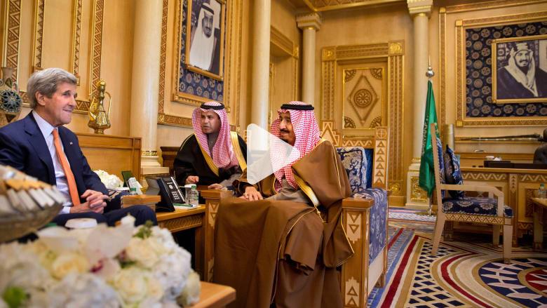 بالفيديو: كيري في السعودية لطمأنة الرياض والخليج