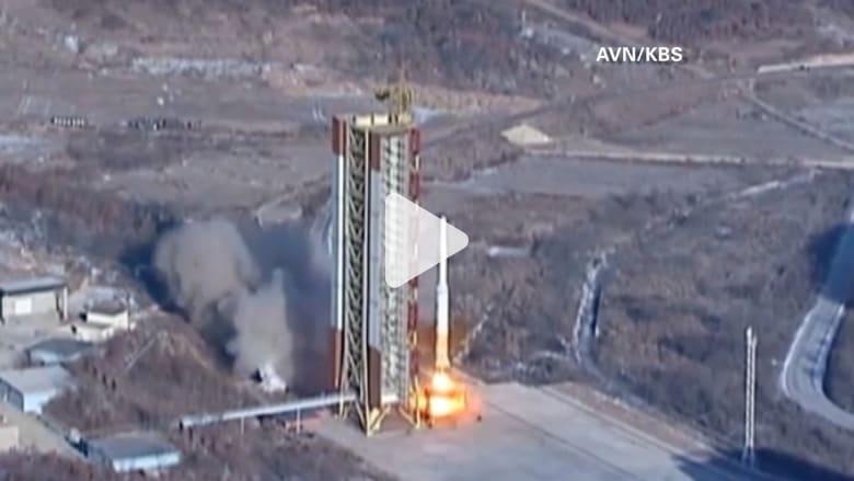شاهد.. كوريا الشمالية تنشر مقاطع جديدة تظهر لحظة إطلاق صاروخ بعيد المدى