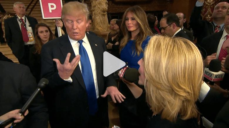"""ترامب وزوجته يتحدثان مع CNN عن اللحظة التي مزح فيها بشأن """"قدراته الجنسية"""""""