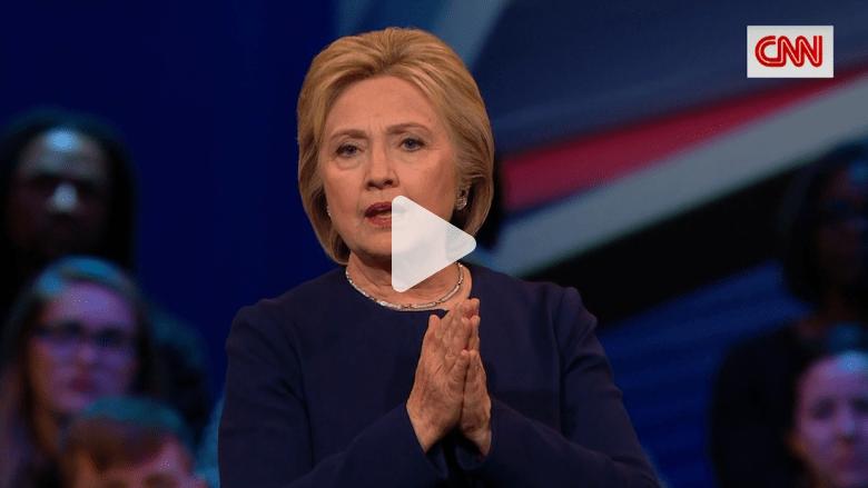 بالفيديو: هيلاري كلينتون تقول إن رئاسة دونالد ترامب ستمس بالسلام العالمي