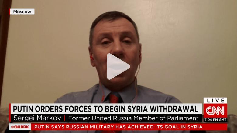 """شاهد.. سياسي روسي: """"الأسد كان سيسقط من دوننا.. وننسحب بعد إنقاذ دمشق من داعش"""""""