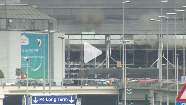 شاهد.. لحظة تفجير حزام ناسف عثر عليه في مطار بروكسيل
