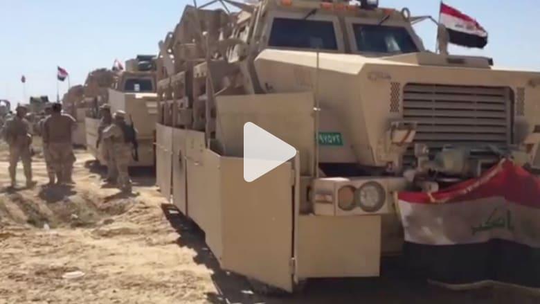 شاهد.. أرتال عسكرية عراقية تستعد لقتال داعش في الموصل