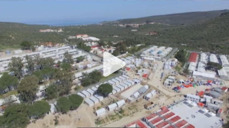 بالفيديو: مشاهد التقطتها عدسةCNN  من طائرة بدون طيار لمخيم لاجئين باليونان