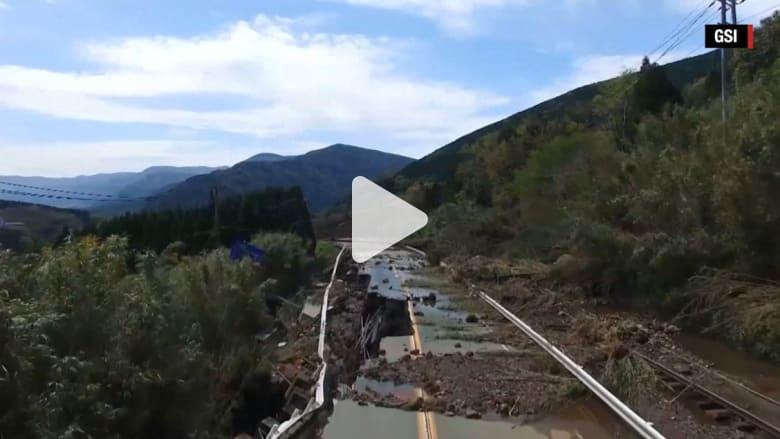 زلزال اليابان: فيديو طائرة دون طيار يظهر أضرارا مرعبة لحقت بالشوارع جراء الانهيارات الأرضية