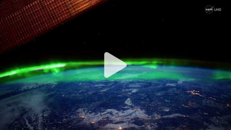 شاهد.. هكذا يبدو الشفق القطبي من الفضاء