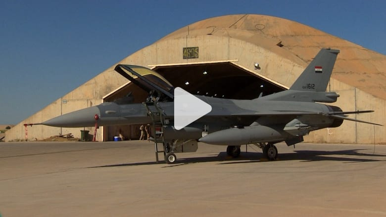 بالفيديو: مقاتلات إف 16 العراقية تحلق في السماء لمواجهة داعش