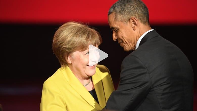 بالفيديو.. أوباما: ميركل في الجانب الصحيح من التاريخ