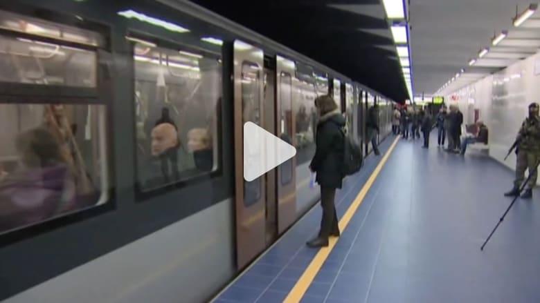 بالفيديو: إعادة تشغيل محطة مترو ميلبيك لأول مرة بعد هجمات بروكسل