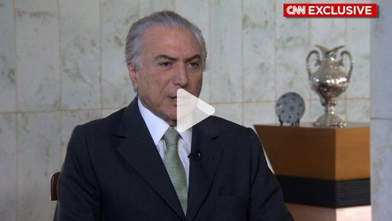 حصرياً.. ميشال تامر نائب رئيسة البرازيل ذو الأصول اللبنانية: أريد استعادة ثقة الناس