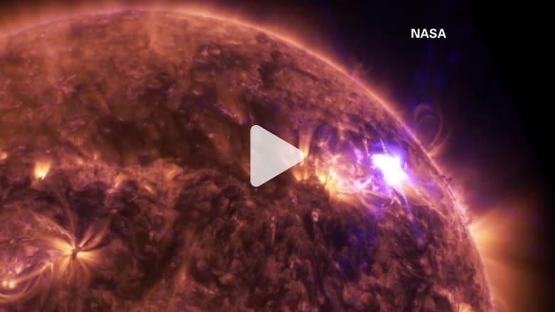 شاهد.. لحظة وقوع انفجارات على سطح الشمس