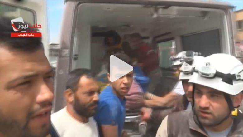 بالفيديو: الغارات تدك حلب وأعداد القتلى في ارتفاع