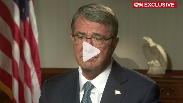 كارتر لـ CNN عن مقتل جندي أمريكي بالعراق: هجوم داعش كان مفاجئاً.. وسنهزم التنظيم رغم المخاطر