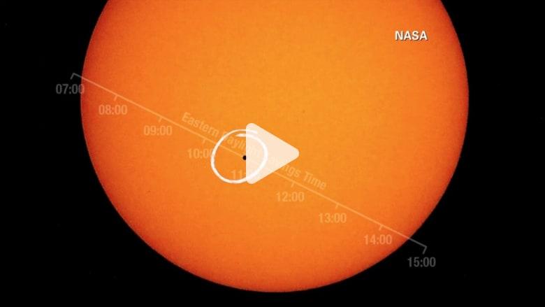 بالفيديو: عطارد يعبر من أمام الشمس لأول مرة منذ 10 سنوات