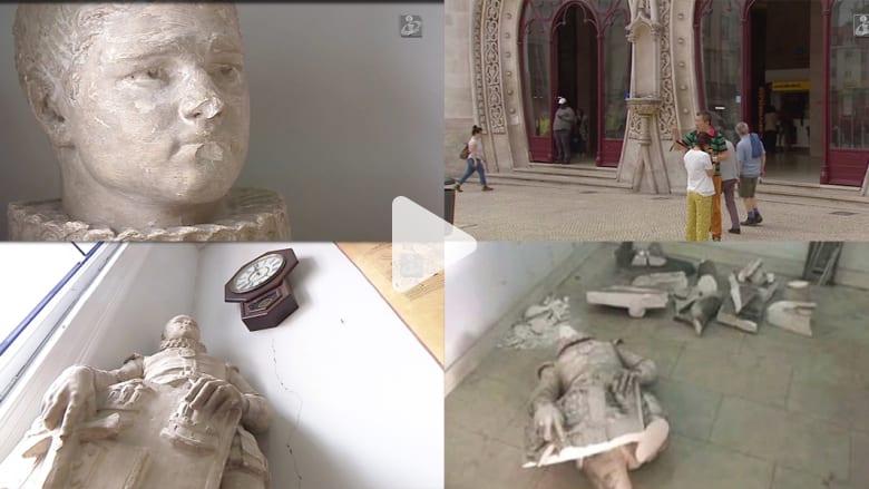 شاهد.. تدمير تمثال عمره 126 عاماً والسبب.. سيلفي!