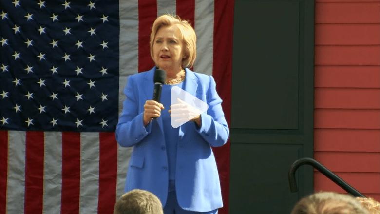 """بالفيديو: هيلاري كلينتون ترى في زوجها الأفضل في قيادة الاقتصاد الأمريكي لـ""""براعته"""""""