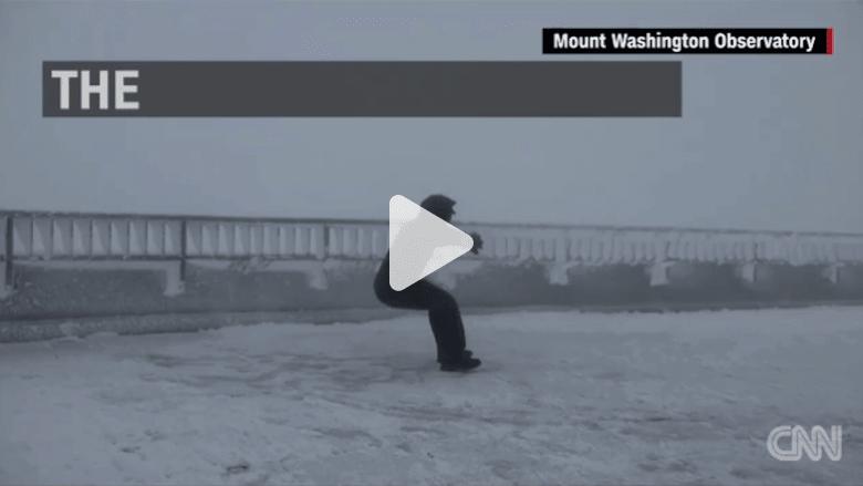 شاهد.. شتاء مخيف يأتي في الصيف على قمة جبل واشنطن