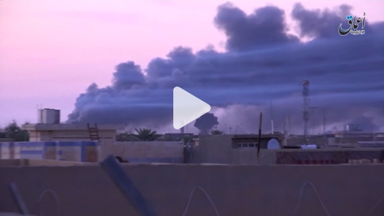 شاهد بالفيديو آثار الهجمات التي يشنها الجيش العراقي على داعش بالفلوجة