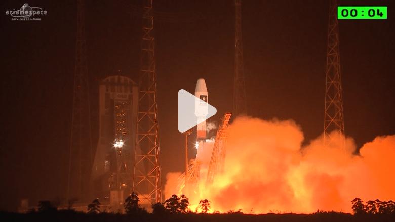 شاهد انطلاقة القمرين 13 و14 من نظام ملاحة غاليليو على صاروخ سيوز