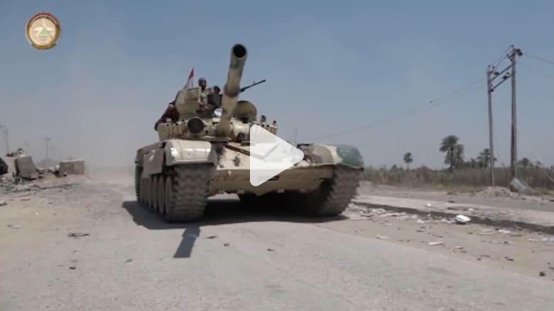 """شاهد.. """"الدفاع العراقية"""" تنشر فيديو من داخل بلدة الكرمة بعد استعادتها بمعركة الفلوجة"""