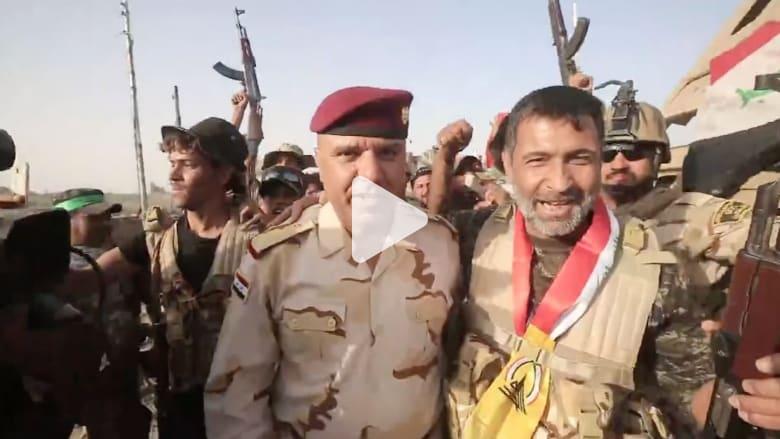 بالفيديو: وسط غبار المعارك.. جنود عراقيون يحتفلون في قرية الزغاريد قرب الفلوجة