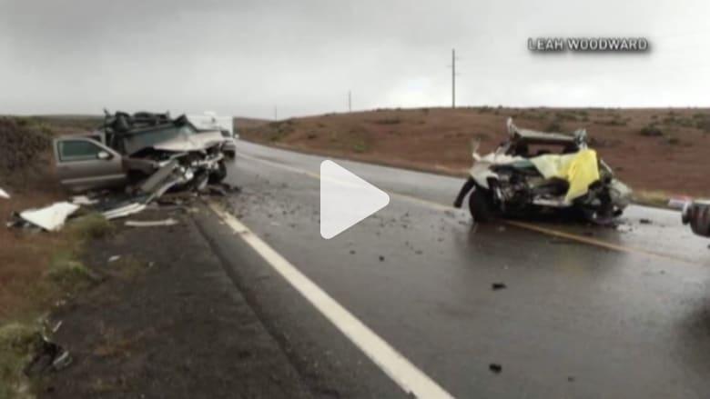 بالفيديو:حادث سيارة يفصل رأس طفل عن عموده الفقري.. والصبي لا يفارق الحياة