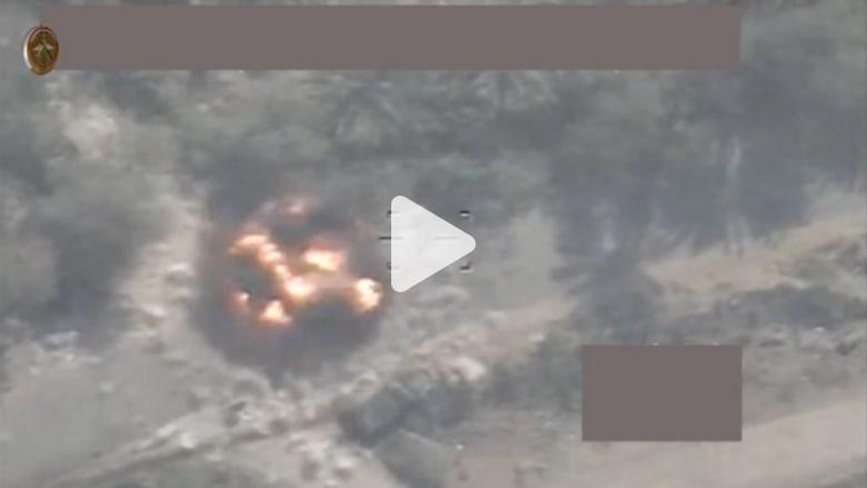 الدفاع العراقية تنشر فيديو لاستهداف مواقع داعش بالفلوجة