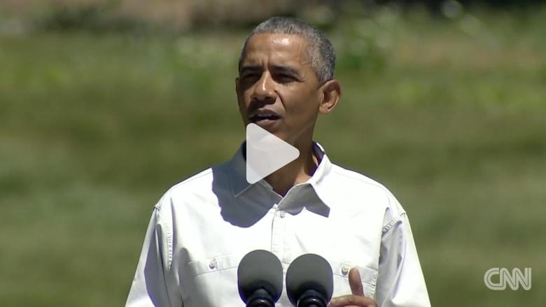 في جولة له بحديقةيوزميتي..أوباما يحذر من نتائج التغير المناخي