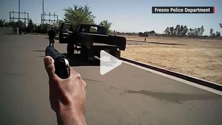 حدث في أمريكا.. شاهد لحظة قتل الشرطة لمشتبه به غير مسلح