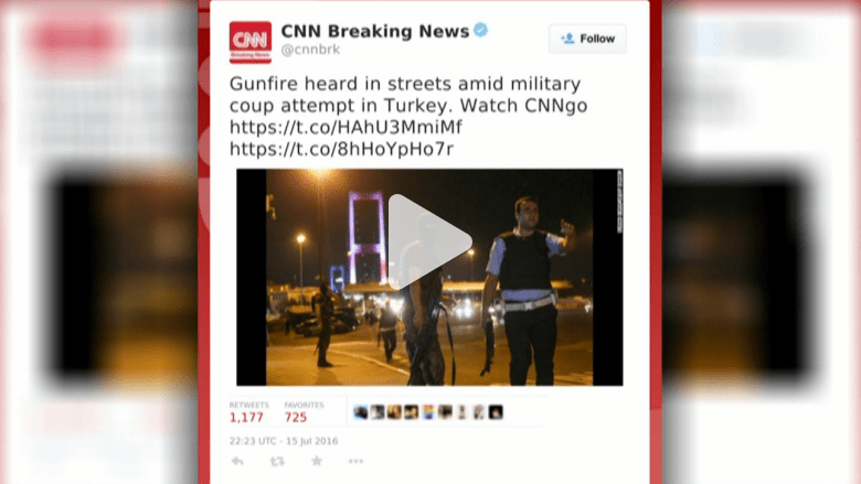 بالفيديو: تسلسل أحداث محاولة الانقلاب في تركيا من خلال التغريدات على تويتر