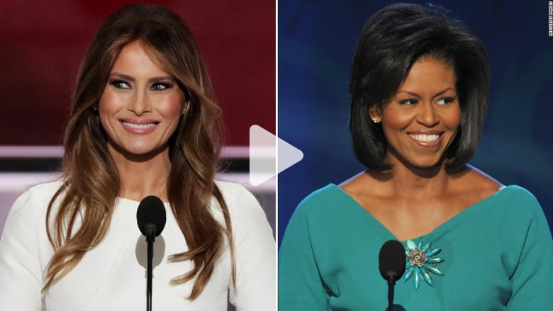 شاهد: تشابه كبير بين خطاب زوجتي ترامب وأوباما