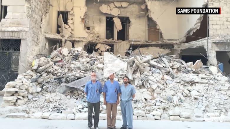 شاهد.. أطباء يواجهون الموت لإنقاذ المدنيين في حلب