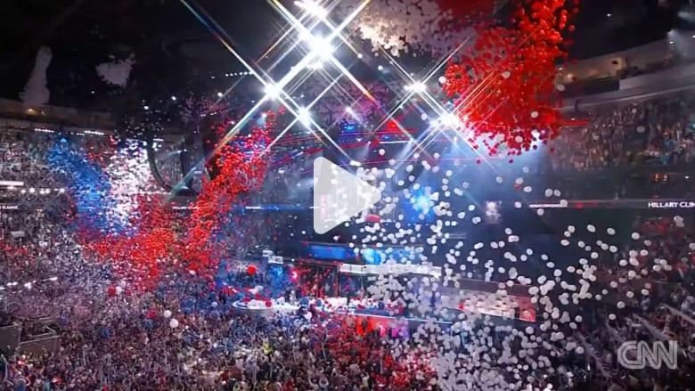 ما مصير آلاف البالونات التي تساقطت بعد إعلان ترشح كلينتون كممثلة الديمقراطيين بسباق الرئاسة؟