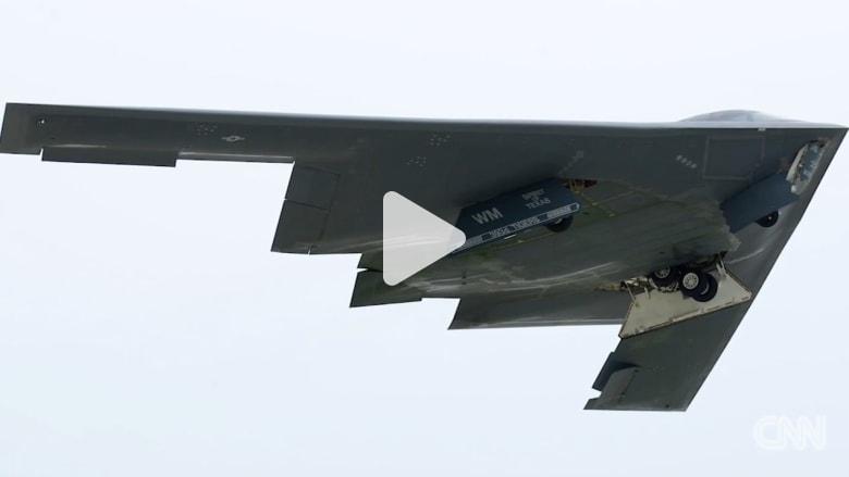 لأول مرة.. فيديو يظهر القاذفات الجوية الأمريكية بطلعة مشتركة