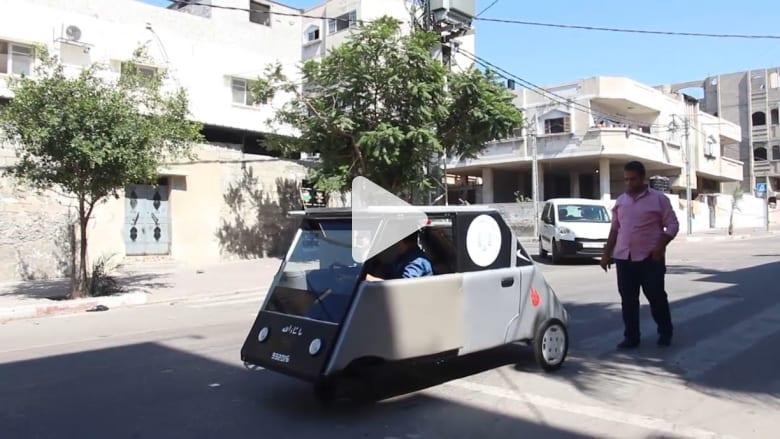 الحاجة أم الاختراع ... طالبان من غزة يبتكران سيارة تعمل على الطاقة الشمسية