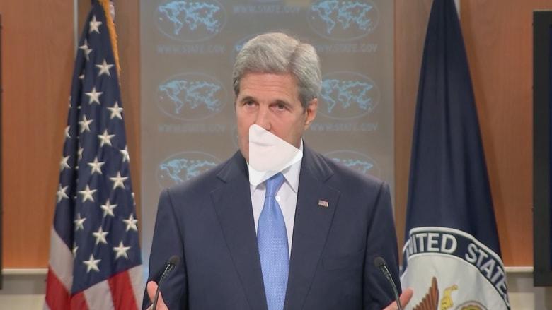 """بعد بدء سريان """"اتفاق وقف الأعمال العدائية"""".. كيري: """"الهدنة المتصدعة"""" أفضل من استمرار المأساة الإنسانية بسوريا"""